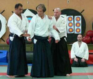 Sensei Maruyama with Mikey Singara and Paul Connan
